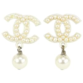 Chanel-03A Pearl CC Drop Earrings 20acs719-Other