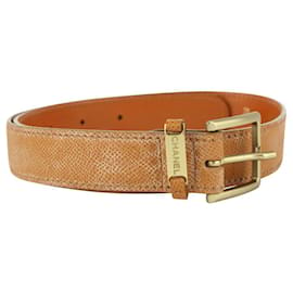 Chanel-Brown Caviar Leather Gold Buckle Belt 11CC719-Other