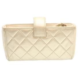 Chanel-Chanel clutch bag-Golden