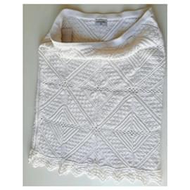 Chanel-White chanel skirt-White