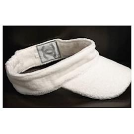 Chanel-Chanel unisex visor-White