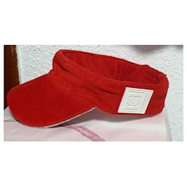 Chanel-Chanel UNISEX visor-White,Red
