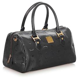 MCM-MCM Black Visetos Nylon Boston Bag-Black