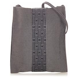 Hermès-Pochette Hermes Herline grise-Gris