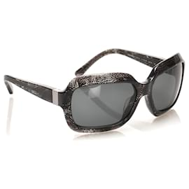 Chanel-Chanel Gray Round Tinted Sunglasses-Grey