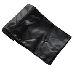 Dolce & Gabbana-Dolce&Gabbana Black Silk Scarf-Black