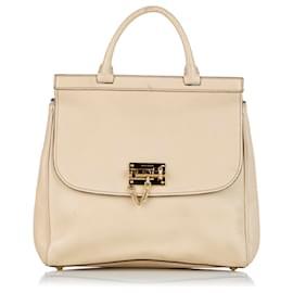 Dolce & Gabbana-Dolce&Gabbana White Leather Satchel-White