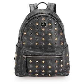 MCM-MCM Black Visetos Stark Backpack-Black