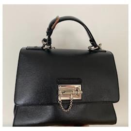 Dolce & Gabbana-Dolce&Gabbana Black Monica Leather Satchel-Black