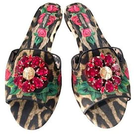 Dolce & Gabbana-Sandals DOLCE & GABBANA-Red,Leopard print