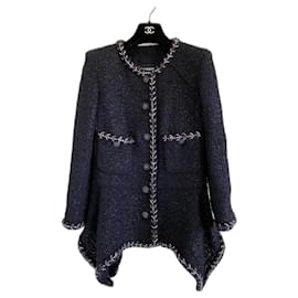Chanel-New 2019 Black tweed jacket-Black