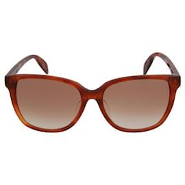 Alexander Mcqueen-Square-Frame Acetate Sunglasses-Brown