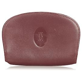 Cartier-Pochette Cartier en cuir Must de Cartier rouge-Rouge,Bordeaux