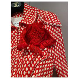 Chanel-Coats, Outerwear-White,Red