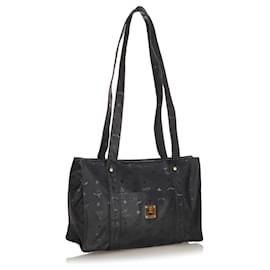 MCM-MCM Black Visetos Nylon Tote Bag-Black