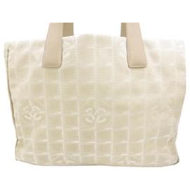 Chanel-Chanel White New Travel Line Nylon Tote Bag-White,Cream