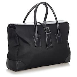 Gucci-Gucci Black Canvas Business Bag-Black
