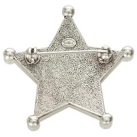 Chanel-Chanel Silver Paris-Dallas Sheriff Star Brooch-Silvery