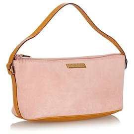 Gucci-Gucci Pink Boat Suede Baguette-Pink