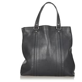 Gucci-Gucci Black Leather Tote Bag-Black