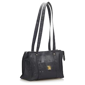 MCM-MCM Black Visetos Tote Bag-Black