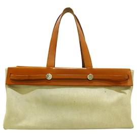 Hermès-Hermes Brown Herbag Cabas MM-Brown,Beige