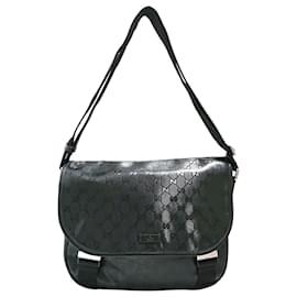 Gucci-Gucci Black GG Imprime Crossbody Bag-Black