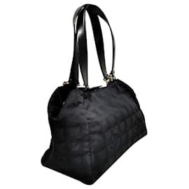 Chanel-Chanel Black New Travel Line Handbag-Black