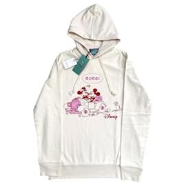 Gucci-Disney x Gucci M white hoodie-Pink,Eggshell
