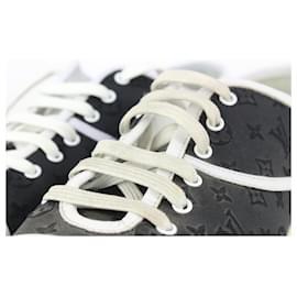 Louis Vuitton-Women's Size 40 Black Satin Monogram Malta Sneakers-Other