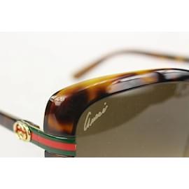 Gucci-Havana Tortoise Web GG Sunglasses-Other