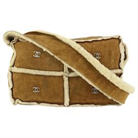 Chanel-Brown Shearling CC Shoulder Bag-Other