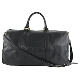 Chanel-Timeless Black Caviar Leather CC Boston Duffle Bag with Strap-Other