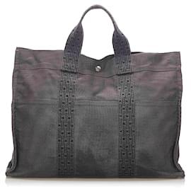 Hermès-Hermes Gray Herline MM Tote Bag-Grey