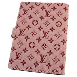 Louis Vuitton-Louis Vuitton Red Monogram Mini Lin Agenda-Red