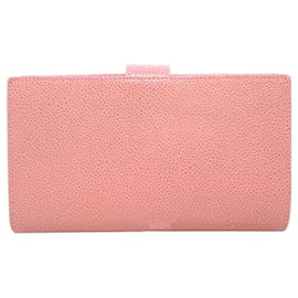 Chanel-Chanel Pink CC Caviar Leather Long Wallet-Pink