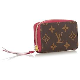 Louis Vuitton-Louis Vuitton Brown Monogram Zippy Long Wallet-Brown