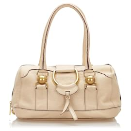 Dolce & Gabbana-Dolce&Gabbana Brown Leather Handbag-Brown,Beige