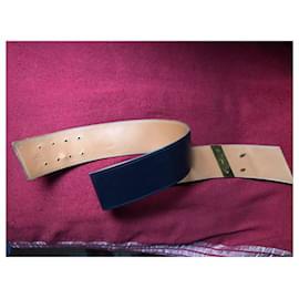 Hermès-vintage hermes belt-Blue