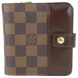 Louis Vuitton-Damier Ebene Compact Wallet-Other