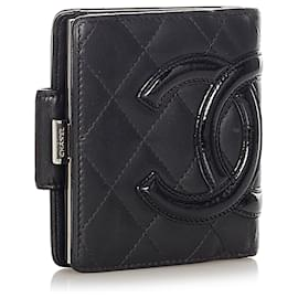 Chanel-Chanel Black Cambon Ligne Leather Small Wallet-Black
