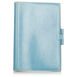 Hermès-Hermes Blue Leather Agenda GM-Blue
