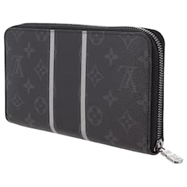 Louis Vuitton-Louis Vuitton Black Monogram Eclipse Zippy Organizer-Black,Grey