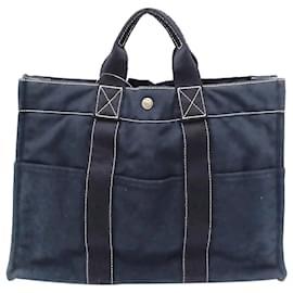 Hermès-Hermes Blue Fourre Tout MM-Blue,Navy blue