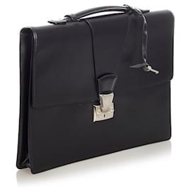 Cartier-Sac d'affaires en cuir noir Pasha de Cartier Cartier-Noir