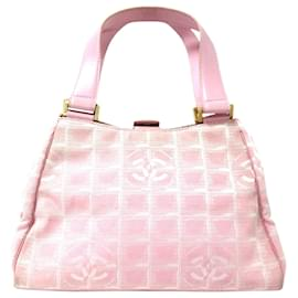 Chanel-Chanel Pink New Travel Line Nylon Handbag-Pink