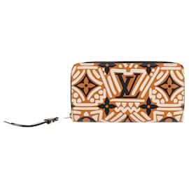 Louis Vuitton-Louis Vuitton Orange Monogram Crafty Zippy-Multiple colors,Orange