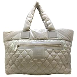 Chanel-Chanel Gray Coco Cocoon Leather Tote Bag-Grey