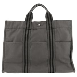 Hermès-Hermes Gray Fourre Tout MM-Black,Grey