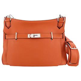 Hermès-Hermes Orange Taurillon Clemence Jypsiere 34-Orange